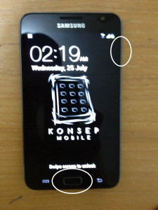 samsung galaxy note (450) screen capture