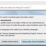 O12neNote-Search-Audio